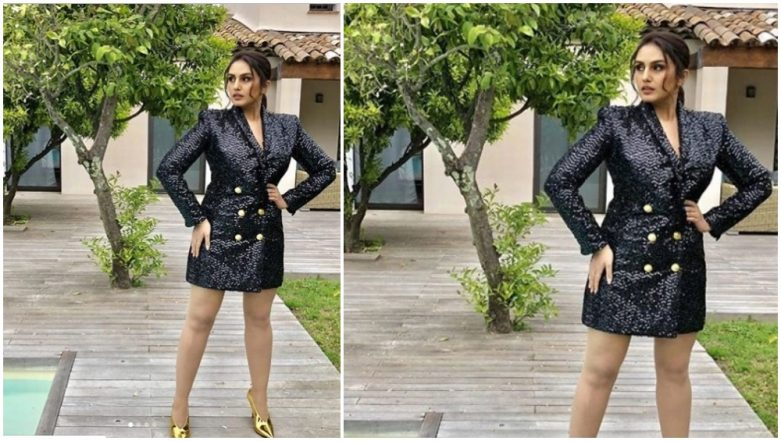 Cannes 2019: Huma Qureshi's Black Blazer Dress and Golden Pumps Disappoint - View Pics