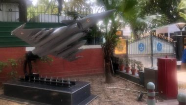 Rafale Jet Replica Erected Outside Air Chief Marshal BS Dhanoa's Residence, Located Next to Congress Headquarters