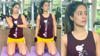 Hina Khan's Latest Workout Pictures Will Inspire You to Hit the Gym Right Away!
