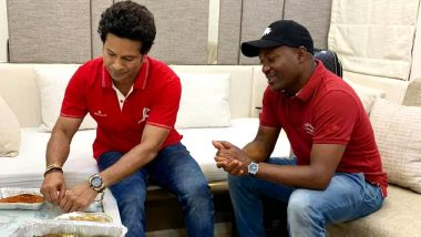 Sachin Tendulkar Wishes Brian Lara on His 50th Birthday, Shares a Picture of The Duo Gorging On Fish