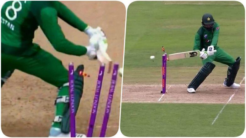 Shoaib Malik's Hit-Wicket During England vs Pakistan 4th ODI Leaves Him Embarrassed (Watch Video)