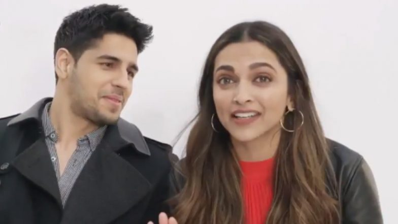 Sidharth Malhotra Wants to Work with Deepika Padukone and We're Totally Stanning This
