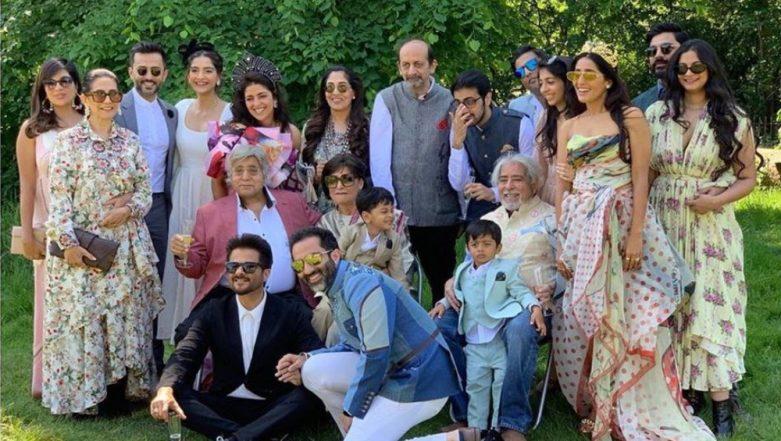 Sonam, Rhea, Anil Attend a Family Wedding and Poora London Thumakda – See Pic