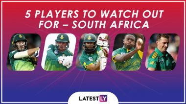 ICC Cricket World Cup 2019: Faf du Plessis, Hashim Amla and Other Key Players in the South African Team for CWC