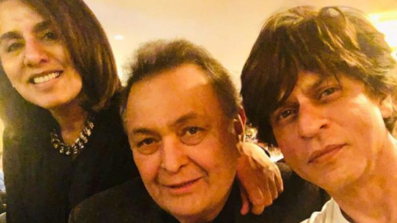 Shah Rukh Khan Pays a Visit to His First Co-star Rishi Kapoor in the US – See Pics