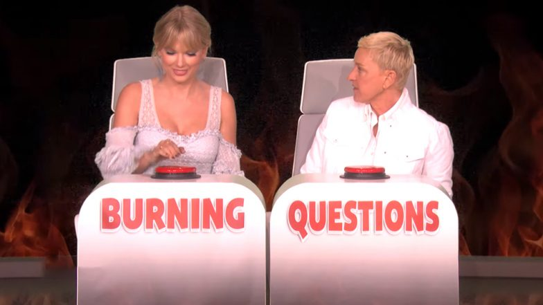 Taylor Swift Eats in Her Sleep 'Like a Racoon,' Songstress Talks About Sleep-Related Eating Disorder at the Ellen DeGeneres Show (Watch Video)