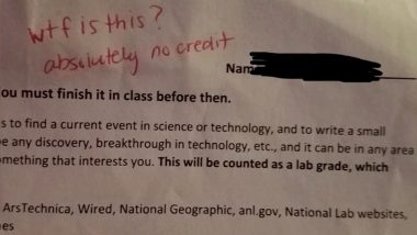 """Mother Shocked to Find """"WTF is This"""" Written by Florida School Teacher on Son's Homework"""