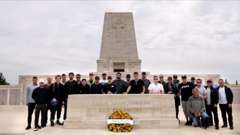 Team Australia Stops Over WW1 Battleground; Visit to Seek Inspiration From the Martyrs Ahead of ICC Cricket World Cup 2019 (See Pics)