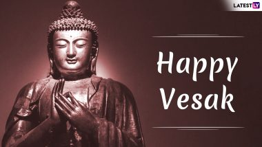 Vesak 2019 Greetings: WhatsApp Stickers, Statuses and GIFs to Wish Your Loved Ones on Buddha Purnima