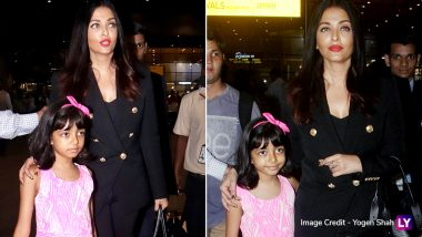 Aishwarya Rai Bachchan Returns to the Bay With Daughter Aaradhya After Attending Cannes 2019 (See Pics)