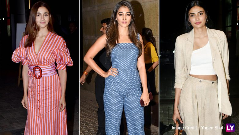 India's Most Wanted: B-Town Hotties Alia Bhatt, Pooja Hegde, Athiya Shetty and Others Attend the Screening of Arjun Kapoor's Film – View Pics