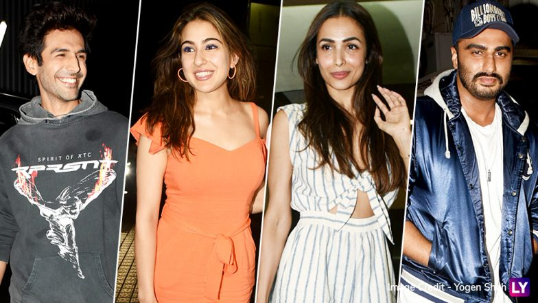 Kartik Aaryan-Sara Ali Khan, Malaika Arora-Arjun Kapoor and Others Spotted at Student of the Year 2 Special Screening – View Pics