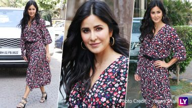Katrina Kaif's Latest Floral Outfit from Bharat Promotions Looks Like a Must-Have for Your Summer Wardrobe - See Pics!