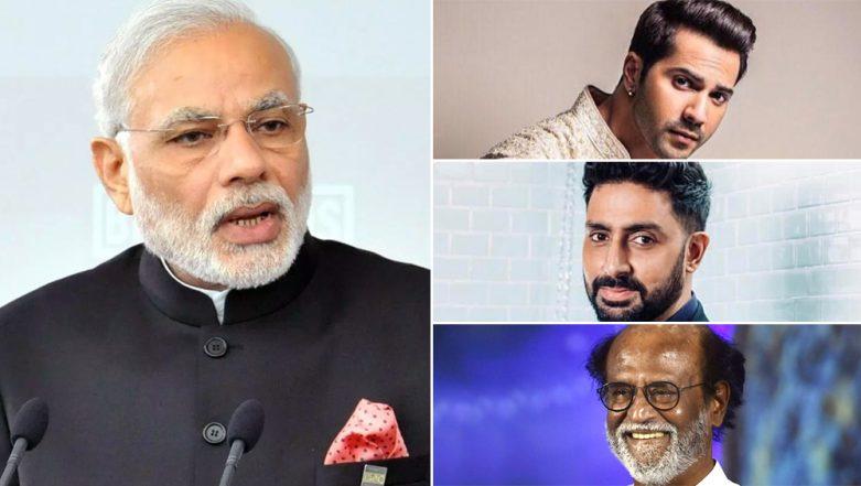 Lok Sabha Elections 2019 Results: Varun Dhawan, Abhishek Bachchan, Rajinikanth Congratulate Narendra Modi for His Colossal Win Already!