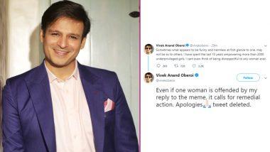 Vivek Oberoi Deletes Meme on Aishwarya Rai Bachchan, Salman Khan, Abhishek and Aaradhya Bachchan, Posts an Apology on Twitter