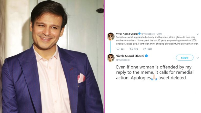 Vivek Oberoi Deletes Meme on Aishwarya Rai Bachchan, Salman Khan, Abhishek and Aaradhya Bachchan, Posts an Apology on Twitter