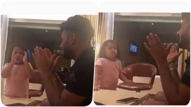 After MS Dhoni's Masterclass, Ziva Turns a Teacher for Rishabh Pant (Watch Video)