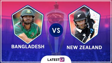Bangladesh vs New Zealand Highlights of ICC World Cup 2019 Match: NZ Beat BAN by Two Wickets