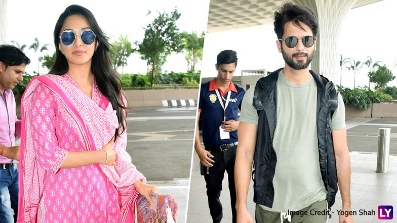 Shahid Kapoor and Kiara Advani Spotted at Mumbai Airport, Actors Head for Kabir Singh Promotions – View Pics