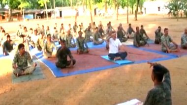 International Day of Yoga 2019: Indo Tibetan Boder Police Performs Yoga in Chhatisgarh's Rajnandgaon