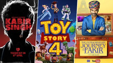 Movies This Week: Shahid Kapoor's Kabir Singh, Tom Hanks's Toy Story 4, Dhanush's The Extraordinary Journey of the Fakir
