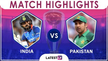 IND vs PAK Stat Highlights: India Beat Pakistan By 89 Runs (DLS Method) in Match 22 of ICC CWC 2019