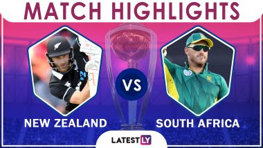 NZ vs SA Stat Highlights ICC CWC 2019: Kane Williamson Century Helps Kiwis Win by 4 Wickets