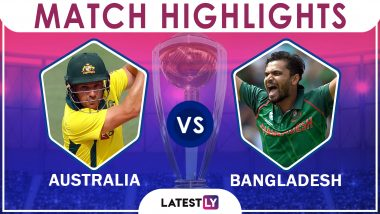 Australia vs Bangladesh Stat Highlights ICC CWC 2019: AUS Beat BAN by 48 Runs