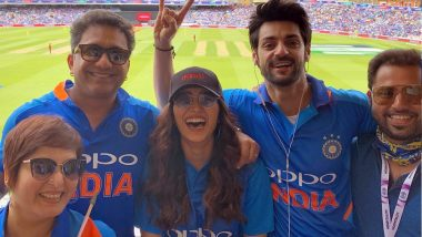 ICC World Cup 2019 Fever! Birthday Boy Karan Wahi and BFF Asha Negi Cheer for Team India Against Australia at The Oval (View Pic)