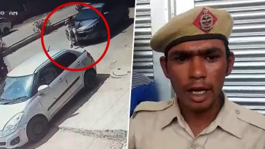 Caught in Wrong Lane, BJP Leader Satish Khola's SUV Driven for 200 Metres with Home Guard Jawan Monu Yadav On Bonnet