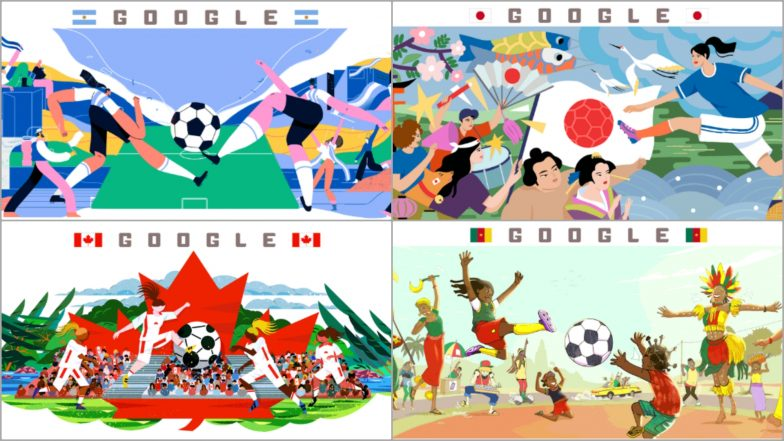 2019 FIFA Women's World Cup Day 4 Schedule Google Doodle Presents Argentina vs Japan and Canada vs Cameroon Fixtures