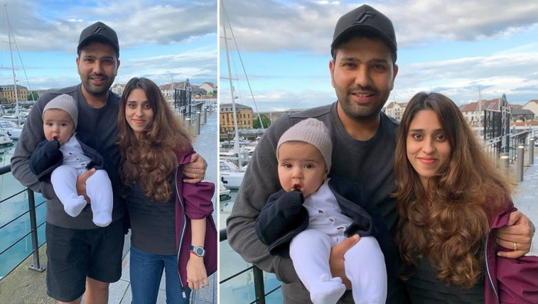 Rohit Sharma Shares Beautiful Picture of Daughter Samaira and Wife Ritika Sajdeh Ahead of IND vs AFG CWC 2019 Match, See Pic