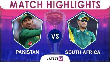 Pakistan vs South Africa Stat Highlights ICC CWC 2019: PAK Beat SA by 49 Runs
