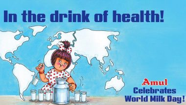 World Milk Day 2019: Amul Celebrates the Day With All Their Fascinating Topicals Since 1976