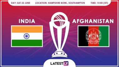 India vs Afghanistan, ICC Cricket World Cup 2019 Match Preview: IND Aim to Continue Winning Run Against AFG