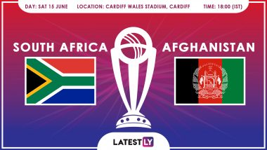 South Africa vs Afghanistan, ICC Cricket World Cup 2019 Match Preview: SA, AFG Look For Maiden Win in Match 21 of CWC 2019