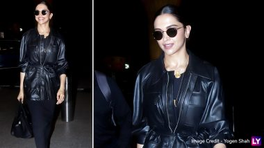 Deepika Padukone's Latest All Black Airport Look With the Leather Jacket and Boots is a Total Winner - See Pics