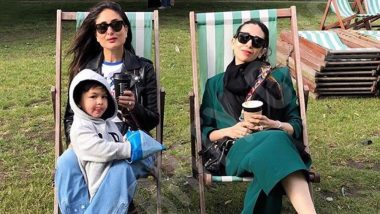 Kareena Kapoor Khan and Taimur Enjoy a Lazy Evening with Karisma Kapoor in London (View Pic)