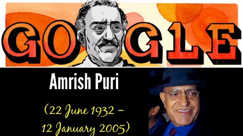 Amrish Puri 87th Birth Anniversary Google Doodle: Search Engine Remembers The Late Bollywood Actor With a Picture From DDLJ