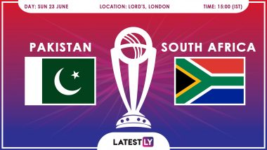 Pakistan vs South Africa, ICC Cricket World Cup 2019 Match Preview: PAK & SA Gear Up for Must-Win Battle at Lord's