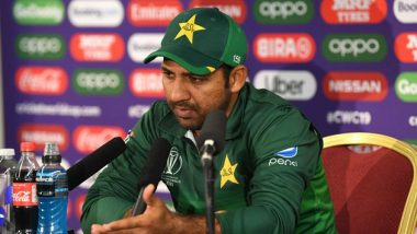 Ahead of PAK vs SA Match, ICC CWC 2019, Sarfaraz Ahmed Slams Media in Press Conference, Says 'People Who Sit on TV Think They Are God' (Watch Video)