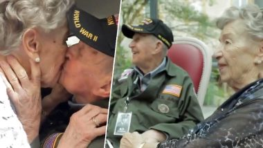 WWII US Army Veteran Reunites With French Lover After 75 Years, Twitter Is in Happy Tears (Watch Heart-Touching Video)