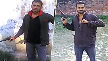 Unnao Jail Prisoners Caught on Camera Consuming Liquor, Brandishing Guns in Prison Premises; Watch Video
