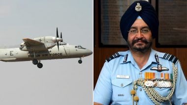 IAF's AN-32 Aircraft Search Operation Update: Air Chief Marshal BS Dhanoa Reaches Jorhat to Monitor Situation