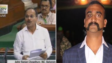Abhinandan Varthaman's Moustache Must be Made 'National Moustache', Demands Congress' Adhir Ranjan Chowdhary in Lok Sabha