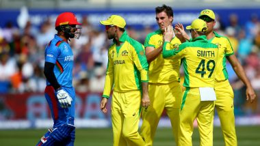 AFG vs AUS, ICC Cricket World Cup 2019: Afghanistan Fights Early Blows to Score 207, Sets Target of 208 For Australia