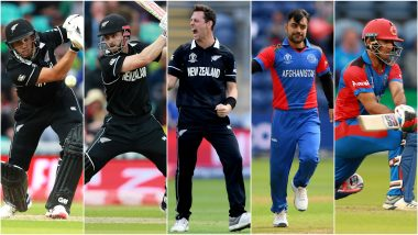 AFG vs NZ, ICC Cricket World Cup 2019 Match 13, Key Players: Ross Taylor, Kane Williamson, Najibullah Zadran and Other Cricketers to Watch Out for at County Ground, Taunton