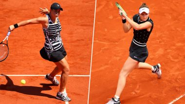 Ashleigh Barty vs Marketa Vondrousova, French Open 2019 Women's Singles Final Live Streaming: Get Free Live Telecast Online, Match Time in IST and Channel Details in India