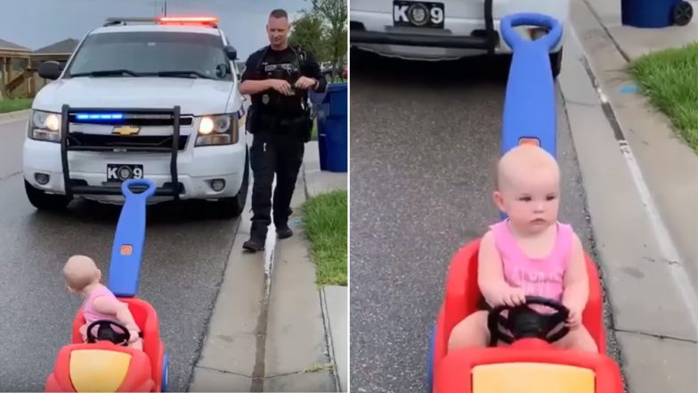 Orlando Police Officer Pulls Baby Daughter Over for Driving without License, And Her Reaction is Priceless (Watch Adorable Video)
