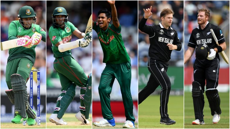 BAN vs NZ, ICC Cricket World Cup 2019 Match 9, Key Players: Mushfiqur Rahim, Lockie Ferguson and Other Cricketers to Watch Out for at The Oval